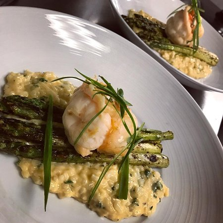 Murphys, CA: Lobster, Asparagus, and Risotto