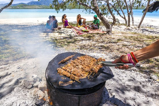 Barbecue with friends in New Caledonia
