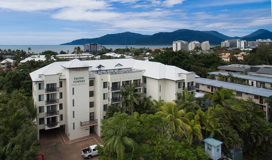 Tropic Towers Apartments: Drone View