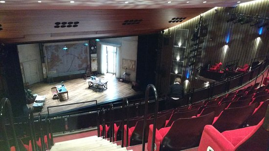 Guildford's Yvonne Arnaud Theatre: The stage ready for Pressure