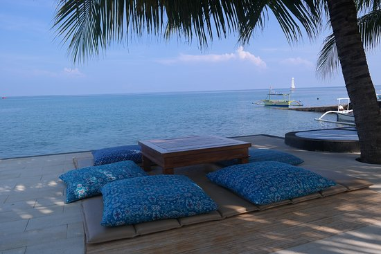 Pemaron, إندونيسيا: Ocean view Restaurant