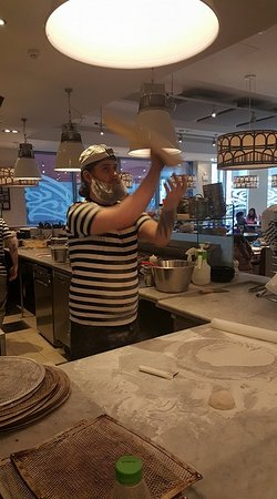 One Of Pizzaiolos Hard At Work Picture Of Pizza Express