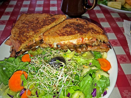 Marshfield, WI: Alpine Ham Sandwich and a salad