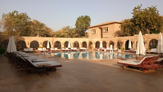 Swimming Pool Area With Deck Chairs Picture Of Gorbandh Palace Jaisalmer Tripadvisor