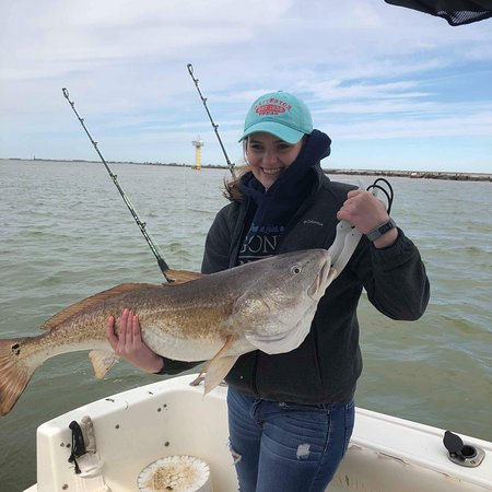 Picture of reel men fishing charters for Fishing charter galveston
