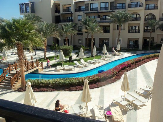 The lazy river from the roof
