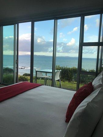 Cable Bay, Nueva Zelanda: Blick aus dem Zimmer / Souterrain