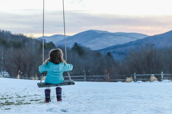 Arlington, VT: Evening swing!