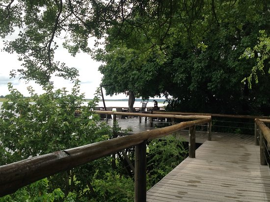 Chobe Game Lodge : Walkway overlooking the Chobe river
