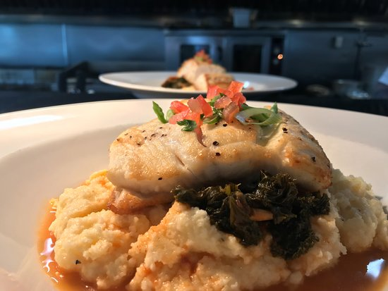 Bourne, MA: pan roasted halibut