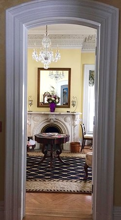 Fair Haven, VT: view from foyer into the parlor/drawing room