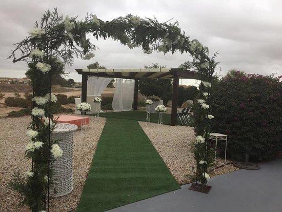 Balsicas, Spanien: Zona chillout adaptada para boda