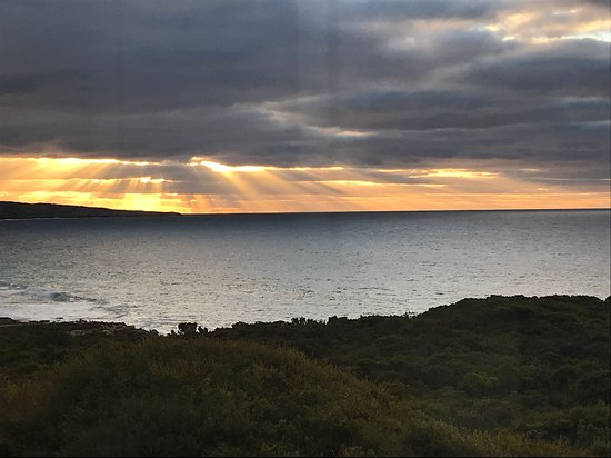 Southern Ocean Lodge: Sunrise view from suite