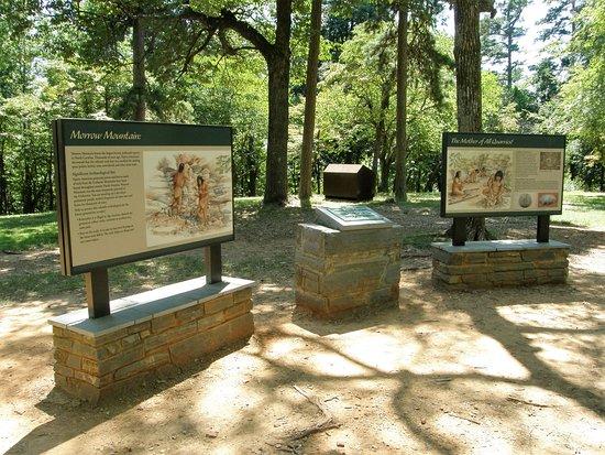 Albemarle, NC: Interpretive signs at the summit of Morrow Mountain detail Native American life.
