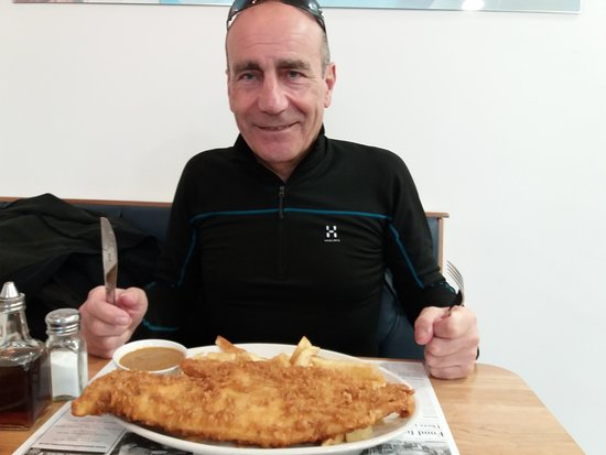 Downeys of Seaham: Large fish and chips