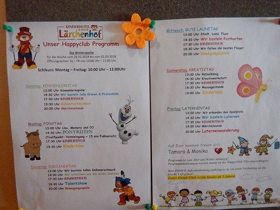 Kinderhotel Lärchenhof: activité du mini-club pour les enfants