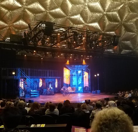 View of stage from just behind box seats picture of casa manana