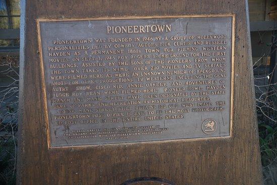 Pioneertown, كاليفورنيا: Pioneertown Plaque