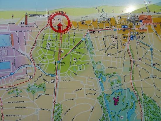 Scheveningen Map Picture of Scheveningen beach Scheveningen