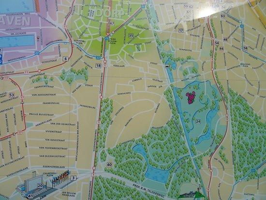 ScheveningenScheveningse Bosjes Park Map Picture of Scheveningen