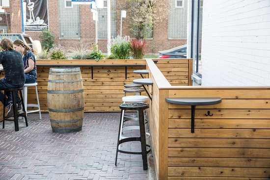 front patio seating and standing vibes picture of burdock rh tripadvisor ca