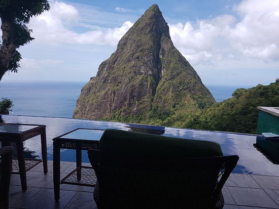 Laborie, St. Lucia: Have a sit and enjoy the view