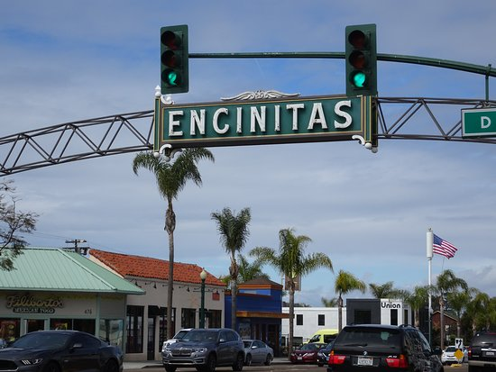 Encinitas, Kaliforniya: Welcome sign