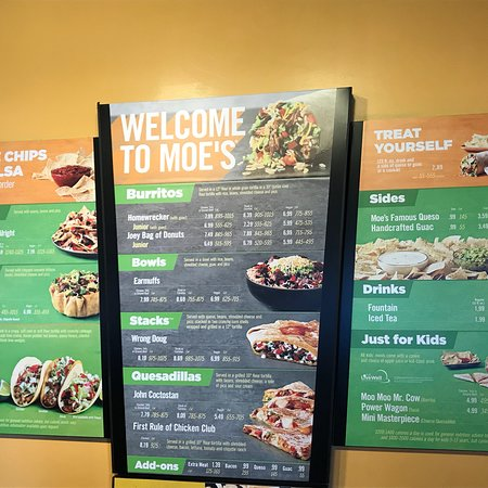 Moe 39 s southwest grill murfreesboro menu prices restaurant reviews tripadvisor - Moe southwest grill menu prices ...