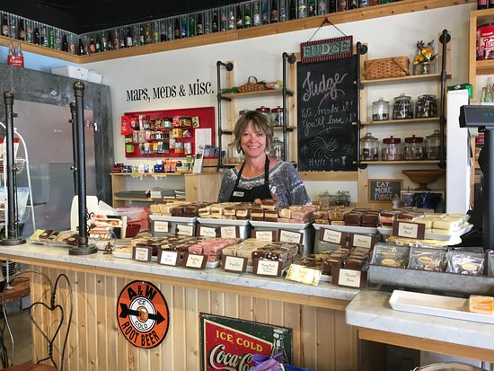 Buena Vista, CO: They make their own delicious fudge.