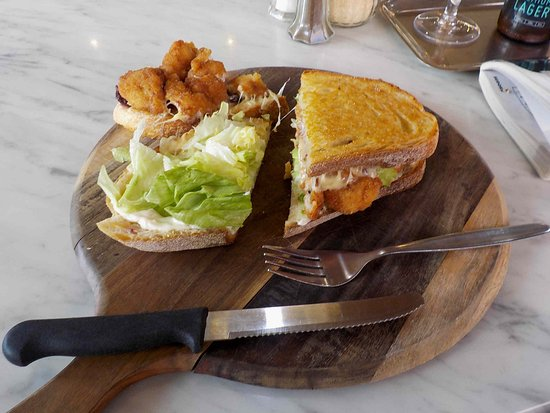 Toasted Chicken Schnitzel Sandwich Picture Of Das Kaffeehaus Castlemaine Tripadvisor