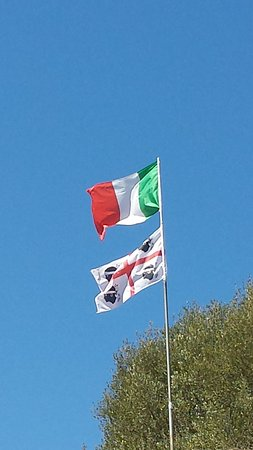 Nuraghe San Pietro: Bandiere