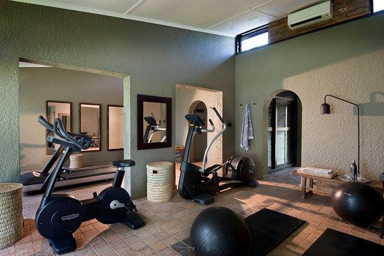 Kariba, Zimbabwe: The gym at Bumi Hills Safari Lodge