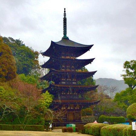 Ruriko Temple Five-Story Pagoda: 瑠璃光寺五重塔 外観
