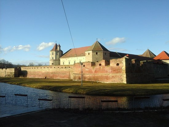 Fagaras, Rumania: Festung mit burggraben.....