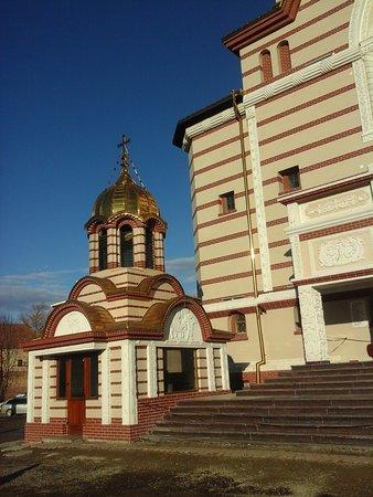 Fagaras, Roumanie : eingangsbereich der kirche.......