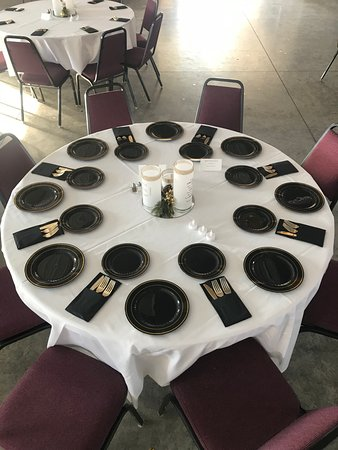 East Aurora, NY: one of our banquet set ups