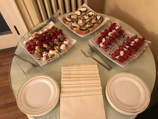 East Aurora, NY: Appetizer display
