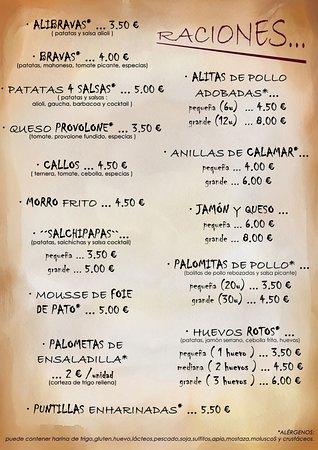 Fuentespalda, Spanien: raciones ... restaurante La Font