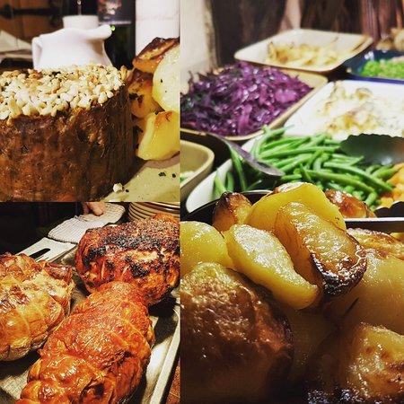 Sunday carvey, with vegan nut roast