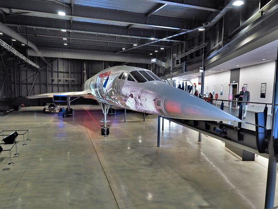 Patchway, UK: Concorde with film projection
