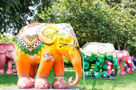 An elephant sculpture garden - Picture of Elephant Parade Land ...
