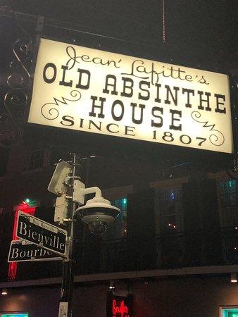 Old Absinthe House: bar sign
