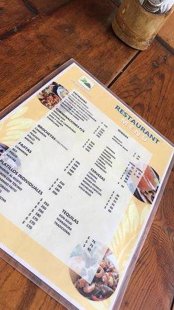 Rancho El Charro: Restaurant menu