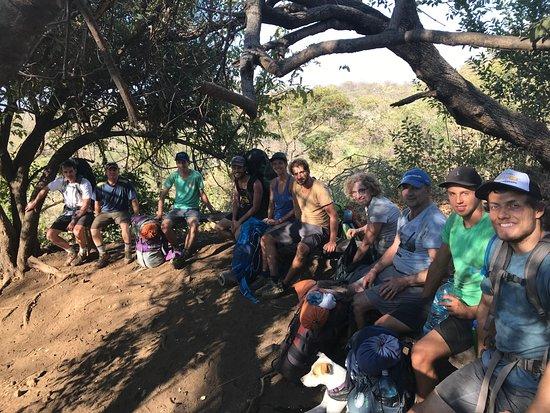 Quetzaltrekkers - Hike Volcanoes Help Kids: the team on a quick break