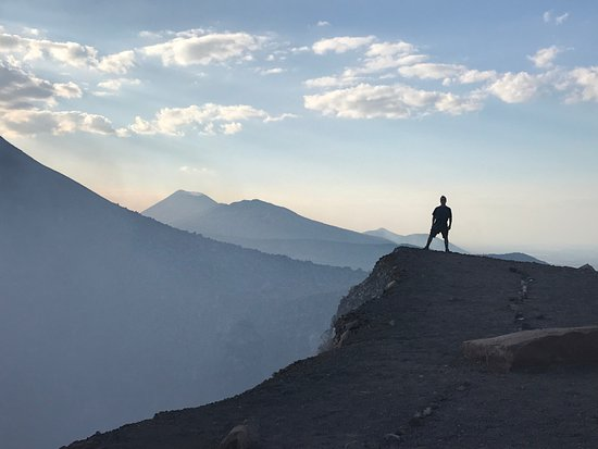 Quetzaltrekkers - Hike Volcanoes Help Kids: Telica at sunset