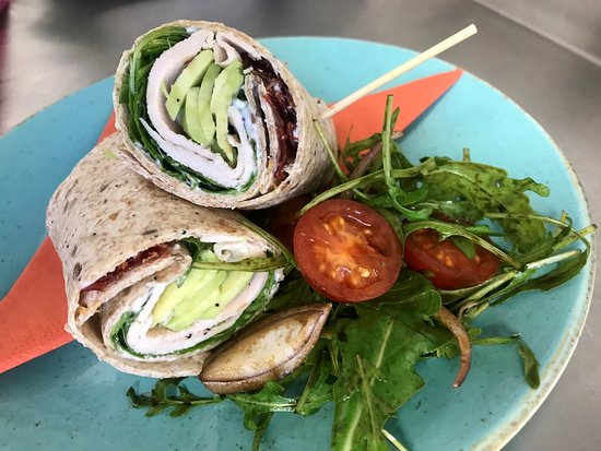 Woodhouse Eaves, UK: chicken, avocado and crispy proscuitto wrap