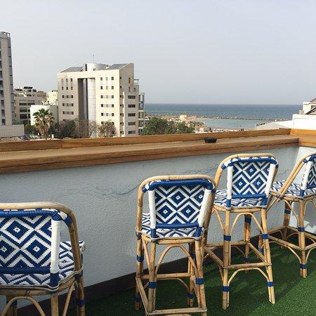 The Port Hotel Tel Aviv: Фотографии зоны отдыха на крыше отеля