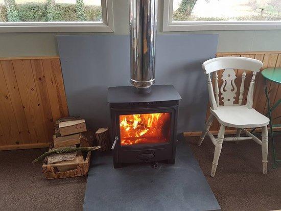 Somerset, UK: log burner was great