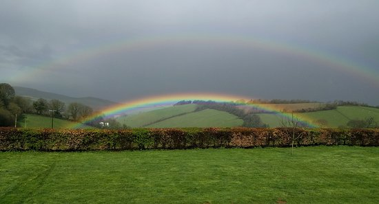 Somerset, UK: a double rainbow!