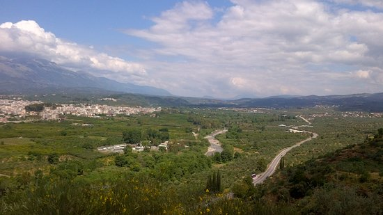 The Menelaion: View of Sparta and the Eurotas Valley from Menelaion